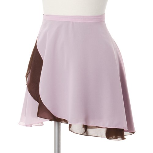 ラベルフェ 大人用リバーシブルバレエ巻きスカート ライトピンクブラウン (フリーサイズ)