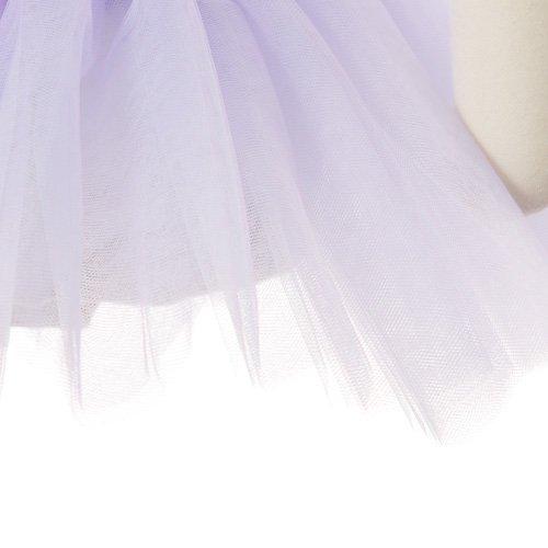 子供用 チュチュ付きバレエレオタード(袖なし) 120cm ホワイト×ラベンダーの詳細写真04
