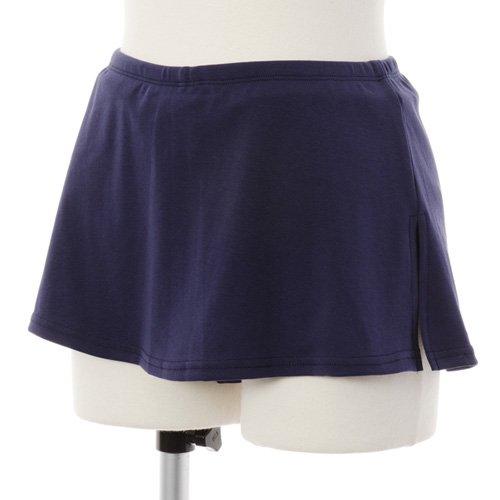 大人用スリットスカート付きバレエショートパンツ ネイビーの写真