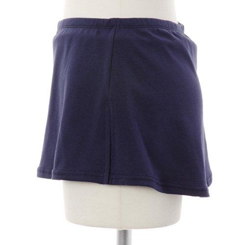 大人用スリットスカート付きバレエショートパンツ ネイビーの詳細写真02
