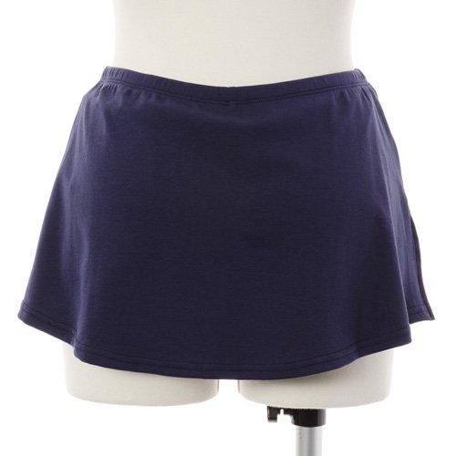 大人用スリットスカート付きバレエショートパンツ ネイビーの詳細写真03