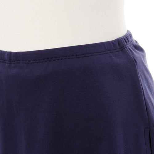 大人用スリットスカート付きバレエショートパンツ ネイビーの詳細写真05