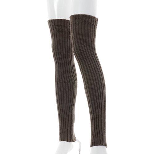 大人用バレエレッグウォーマーロング踵なし チャコールグレー (フリーサイズ)の写真