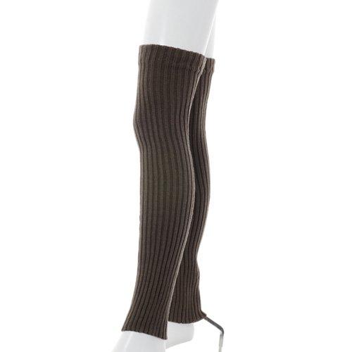 大人用バレエレッグウォーマーロング踵なし チャコールグレー (フリーサイズ)の詳細写真02
