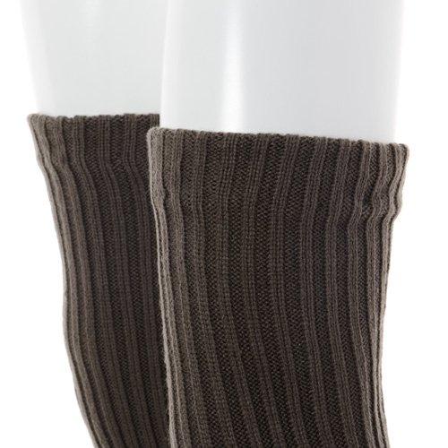 大人用バレエレッグウォーマーロング踵なし チャコールグレー (フリーサイズ)の詳細写真04