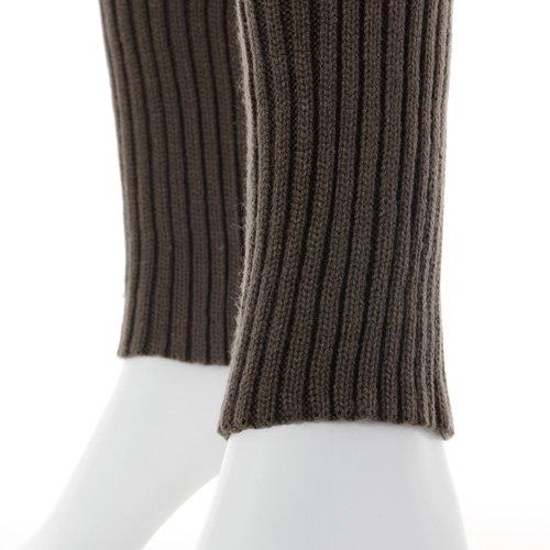 大人用バレエレッグウォーマーロング踵なし チャコールグレー (フリーサイズ)の詳細写真05