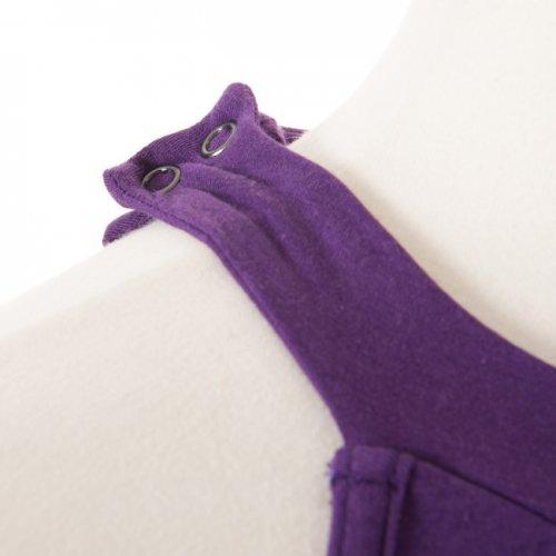 ホルターネックフラワーレースレオタード 紫 Lサイズの詳細写真04