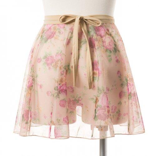 花柄レーススカートの後ろからの写真
