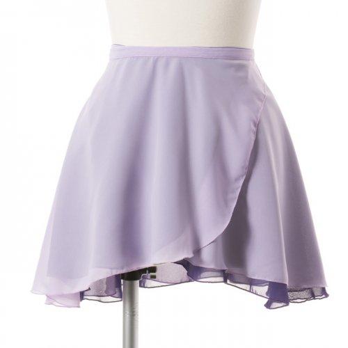 大人用リバーシブルバレエ巻きスカート ラベンダーグレー (フリーサイズ)の後ろからの写真