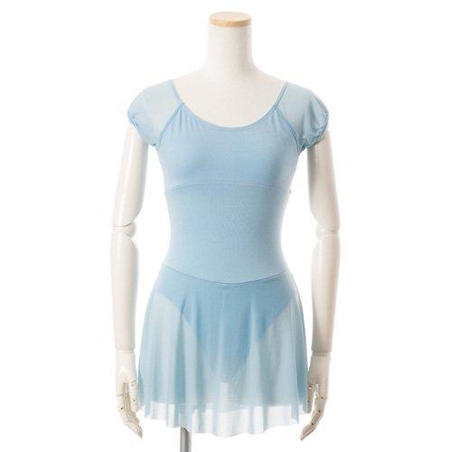 水色シフォンのスカート付きレオタードの後ろからの写真