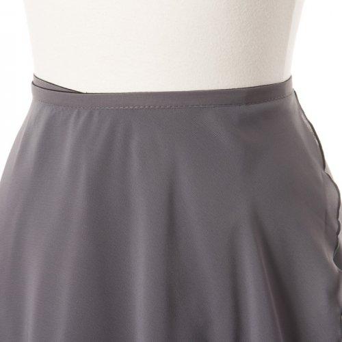 大人用リバーシブルバレエ巻きスカート ブラックグレー (ロング)の詳細写真05