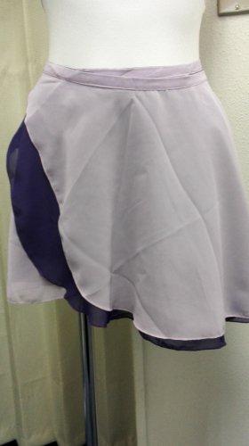大人用リバーシブルバレエ巻きスカート パープル&薄パープル (フリーサイズ)の写真