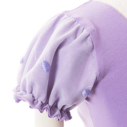 子供用 うす紫色のレオタード 白デイジー柄のスカート付き 130cm の詳細写真06