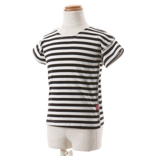 男児用 バレエ半袖Tシャツ ボーダーの写真