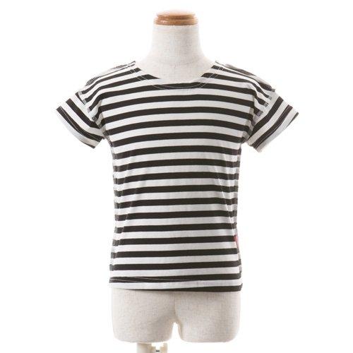 男児用 バレエ半袖Tシャツ ボーダーの後ろからの写真