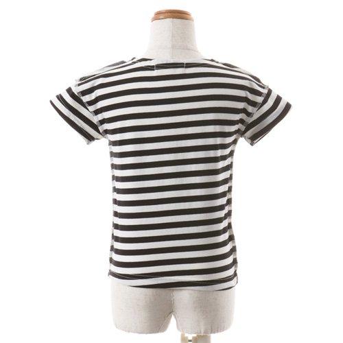 男児用 バレエ半袖Tシャツ ボーダーの詳細写真02