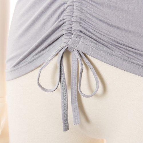 大人用 半袖バレエトップス グレー (Mサイズ)の詳細写真05