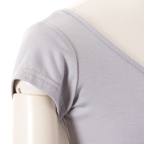 大人用 半袖バレエトップス グレー (Mサイズ)の詳細写真06