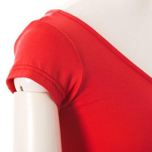 大人用 半袖バレエトップス ビビッドオレンジ(Mサイズ)の詳細写真06