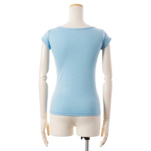 大人用 半袖バレエトップス 水色(Mサイズ)の後ろからの写真