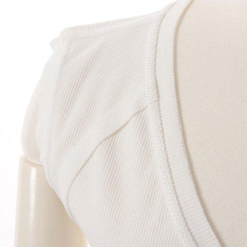 大人バレエ用のトップス・ボレロ・バックカシュクール 袖なし ホワイト(Mサイズ) の詳細写真06