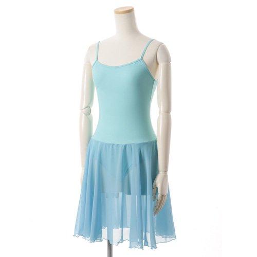 バレゾナンスオリジナル 水色シフォンのスカート付きレオタードの写真