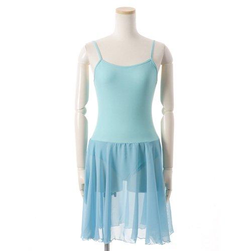 バレゾナンスオリジナル 水色シフォンのスカート付きレオタードの後ろからの写真