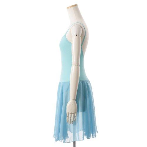 バレゾナンスオリジナル 水色シフォンのスカート付きレオタードの詳細写真02