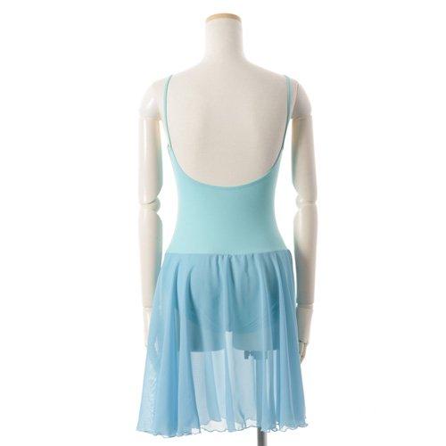 バレゾナンスオリジナル 水色シフォンのスカート付きレオタードの詳細写真03