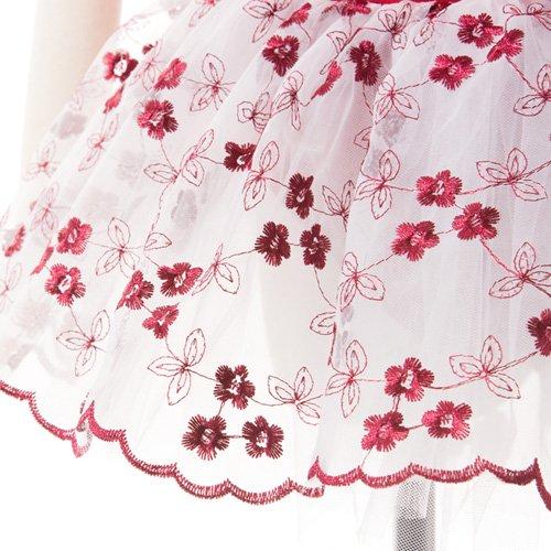 子供用 濃い赤のレオタード スカート付き 120cm の詳細写真05