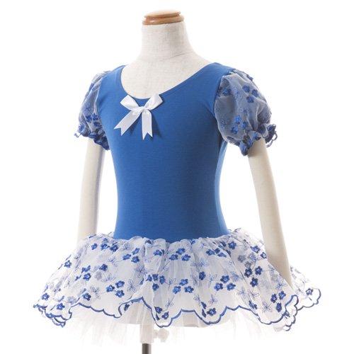 子供用 濃い青のレオタード スカート付き 110cmの写真
