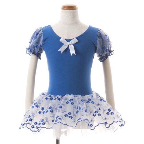 子供用 濃い青のレオタード スカート付き 110cmの後ろからの写真