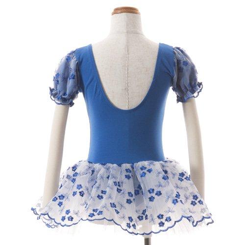 子供用 濃い青のレオタード スカート付き 120cm の詳細写真03