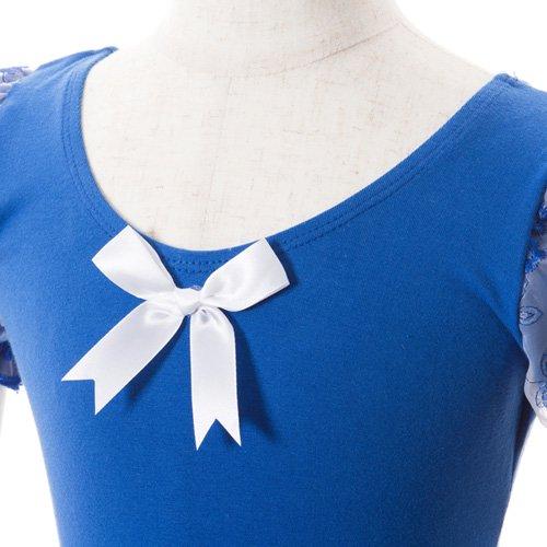 子供用 濃い青のレオタード スカート付き 120cm の詳細写真04