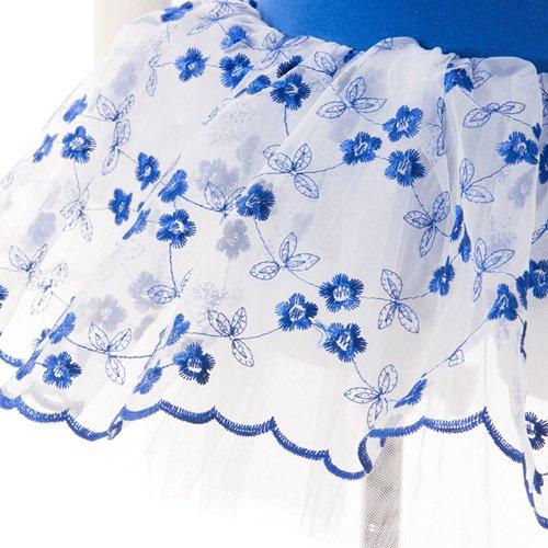 子供用 濃い青のレオタード スカート付き 120cm の詳細写真05