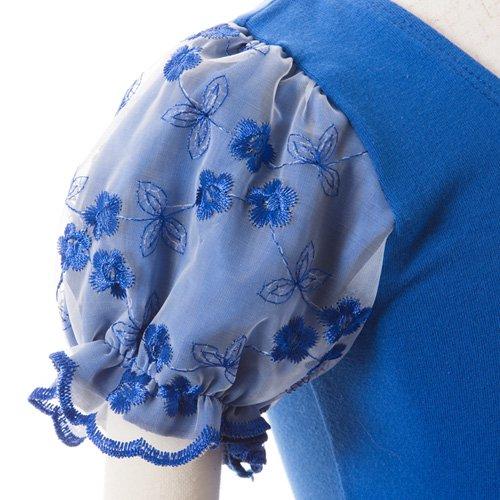 子供用 濃い青のレオタード スカート付き 120cm の詳細写真06