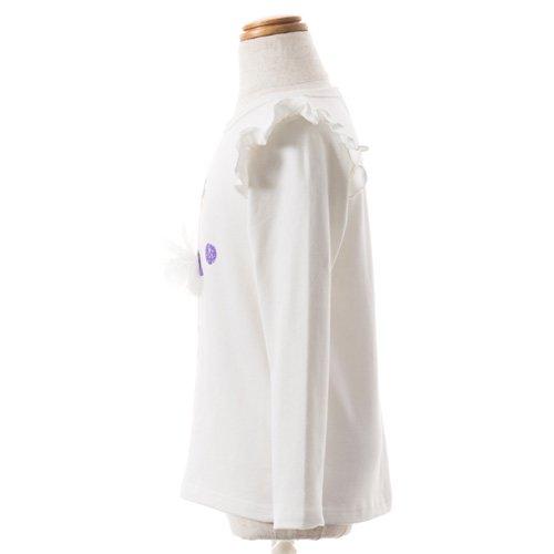 子供用 バレエ長袖Tシャツ 白 サイズ110の詳細写真02