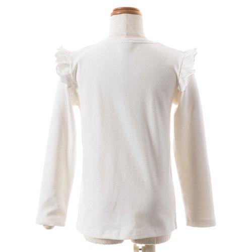 子供用 バレエ長袖Tシャツ 白 サイズ110の詳細写真03