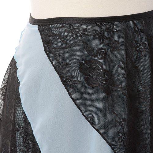 大人用バレエ巻きスカート レース ライトブルー(フリーサイズ)の詳細写真06