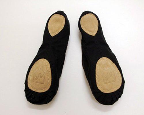 格安男性用バレエシューズ スプリットソールballetshoes ブラック (26.5cm)★の後ろからの写真