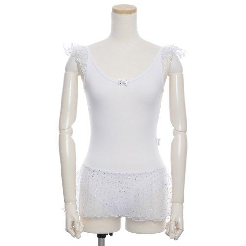 子供用スカート付バレエレオタード 身長約90cm対応(2〜3歳)  サイズ8 ホワイトの詳細写真04