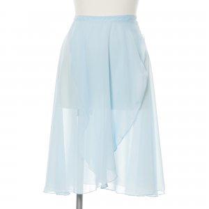 大人用ロング丈バレエ巻きスカート ベビーブルー (Lサイズ)