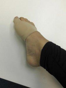 バレエの足・フットケアにバニオンケアサポーター ベージュの写真
