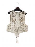 『Mame Kurogouchi』コード刺繍ベスト/Cording Embroidery Vest (ベージュ)