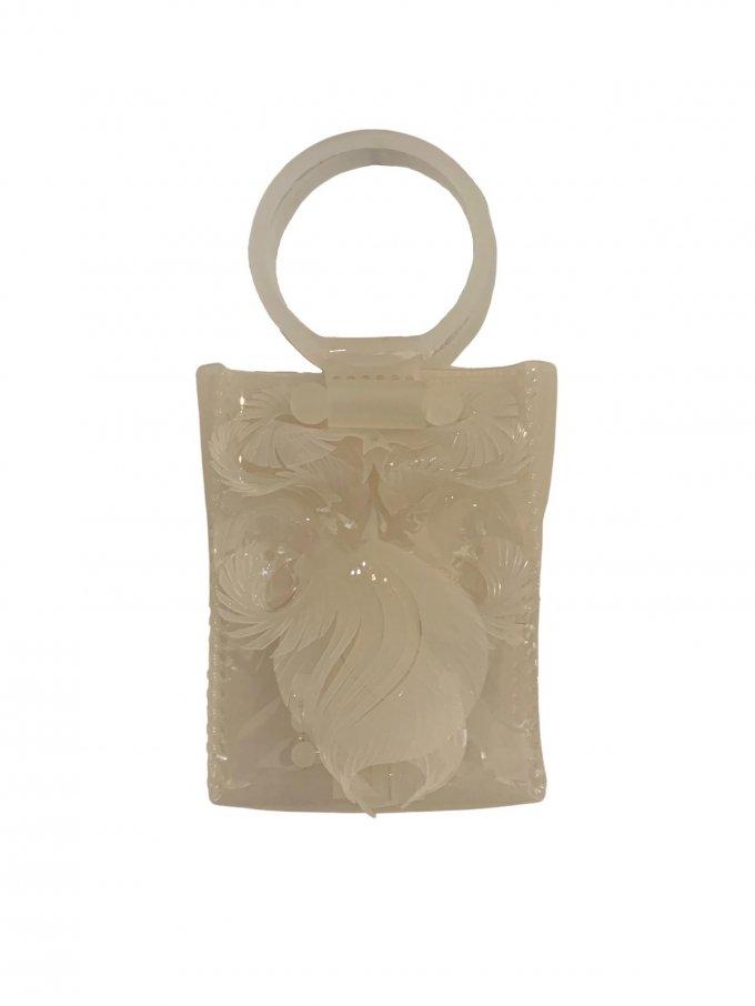 『Mame Kurogouchi』PVCミニハンドバッグ/ Transparent Sculptural(Vinyl Chloride) Mini Handbag (ホワイト)