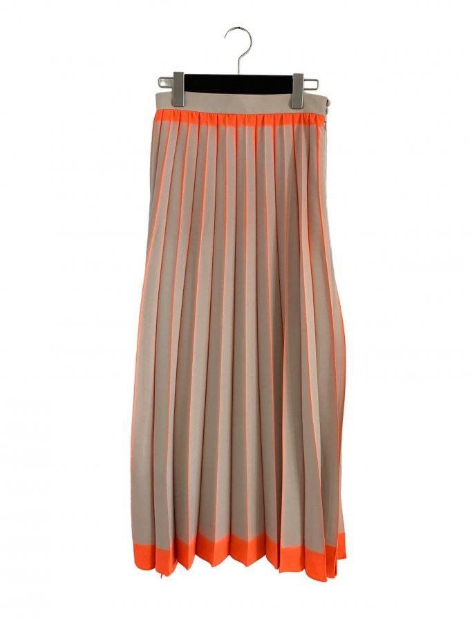 『Mame Kurogouchi』板締め絞りプリーツスカート/'Itajime Shibori' Pleated Skirt