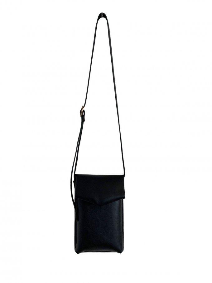 『ohta』black slim letter bag