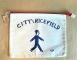CITY&RICEFIELD クラッチバッグ(赤)