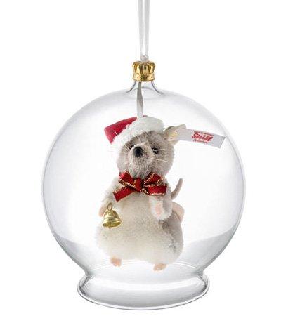Steiff クリスマス マウス イン バーブル オーナメント EAN021657