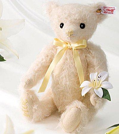 Steiff 日本限定 名花シリーズ リリー テディベア EAN677700